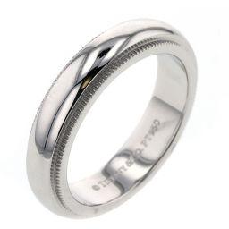 ティファニー TIFFANY&Co. ミルグレインバンド 幅約4mm リング・指輪  プラチナPT950 6号 シルバー レディース K00313501