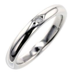 ティファニー TIFFANY&Co. スタッキングバンド 1P 約2.5mm リング・指輪  プラチナPT950/ダイヤモンド ダイヤモンド 6.5号 シルバー レディース K00313508