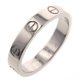 カルティエ CARTIER ミニラブ 幅約3.5mm リング・指輪 B4049651  K18ホワイトゴールド 11号 シルバー レディース K00313558