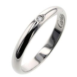 カルティエ CARTIER ウェディング 1P 幅約2.5mm リング・指輪  プラチナPT950/ダイヤモンド ダイヤモンド 9号 シルバー レディース K00313562