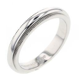 ティファニー TIFFANY&Co. ミルグレインバンド 幅約3mm リング・指輪  プラチナPT950 7.5号 シルバー レディース K00313587