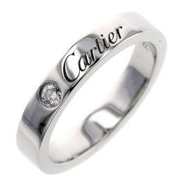 カルティエ CARTIER エングレーブド 1P  リング・指輪  プラチナPT950/ダイヤモンド ダイヤモンド 5号 シルバー レディース K00413950