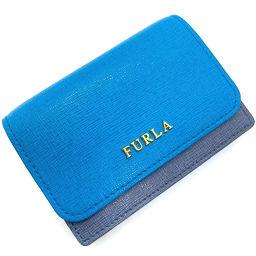 フルラ Furla バイカラー 名刺入れ パスケース カードケース 00792402  レザー TUO ブルー レディース K00511097