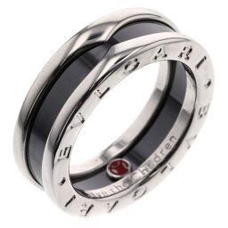 ブルガリ BVLGARI ビーゼロワン セーブザチルドレン チャリティ  リング・指輪  シルバー925/黒セラミック 13号 ブラック レディース K00511117