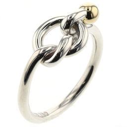 ティファニー TIFFANY&Co. フック&アイ コンビ リング・指輪  シルバー925/K18イエローゴールド 13号 シルバー レディース K00511197
