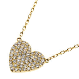 アーカー AHKAH ハートパヴェ ミディ 0.25ct ネックレス  K18イエローゴールド/ダイヤモンド ダイヤモンド0.25ct ゴールド レディース K00513217
