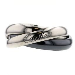 カルティエ CARTIER トリニティ リング・指輪  K18ホワイトゴールド/黒セラミック 9号 シルバー レディース K00513243
