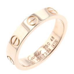 カルティエ CARTIER ミニラブ 幅約3.5mm リング・指輪  K18ピンクゴールド 8号 ゴールド レディース K00513246