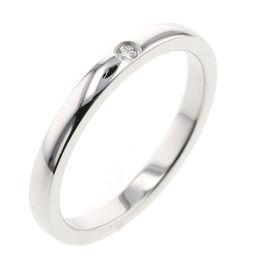 カルティエ CARTIER バレリーナ ウェディング 1P 約2mm リング・指輪  プラチナPT950/ダイヤモンド ダイヤモンド 9号 シルバー レディース K00513265