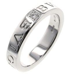 ブルガリ BVLGARI ブルガリブルガリ ダブルロゴ 1P  リング・指輪  K18ホワイトゴールド/ダイヤモンド ダイヤモンド 14号 シルバー レディース K00513315