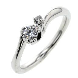 4℃ ヨンドシー アクアニティ 0.158ct F VS2 EX NONE リング・指輪  プラチナPT950/ダイヤモンド ダイヤモンド0.158ct 10号 シルバー レディース K00521425
