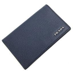 プラダ PRADA 名刺入れ カードケース 2MC122  サフィアーノレザー ネイビー メンズ K00522467