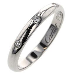 カルティエ CARTIER クラシックウェディング 3P 約2.6mm リング・指輪  プラチナPT950/ダイヤモンド ダイヤモンド 9号 シルバー レディース K00613658