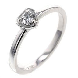 カルティエ CARTIER ディアマン レジェ ドゥ ハート リング・指輪  K18ホワイトゴールド/ダイヤモンド ダイヤモンド 10号 シルバー レディース K00626870