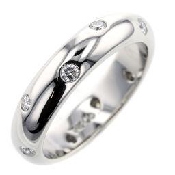 ティファニー TIFFANY&Co. ドッツ バンド 10P 約4mm リング・指輪  プラチナPT950/ダイヤモンド ダイヤモンド 10号 シルバー レディース K00626872