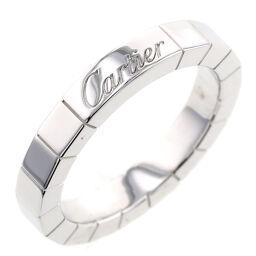 カルティエ CARTIER ラニエール 幅約3mm  リング・指輪  K18ホワイトゴールド 8号 シルバー レディース K00626878