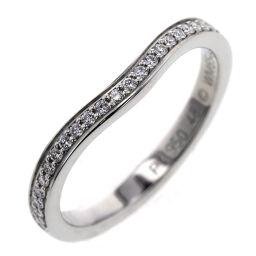 カルティエ CARTIER バレリーナ カーブ ハーフエタニティ 幅約2mm リング・指輪 B40930  プラチナPT950 ダイヤモンド 8号 シルバー レディース K00713191