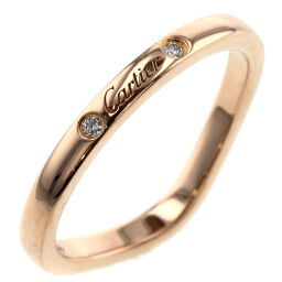 Cartier CARTIER Ballerina Curve Wedding 3P Ring / Ring K18 Pink Gold / Diamond Diamond No. 9 Gold Ladies K00713233