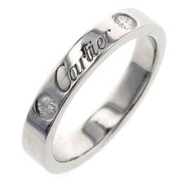 カルティエ CARTIER エングレーブド 2P 約3mm リング・指輪  プラチナPT950/ダイヤモンド ダイヤモンド 6号 シルバー レディース K00713289