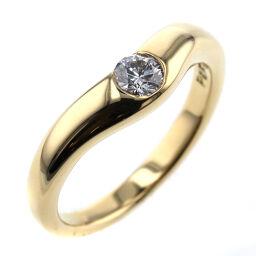 ティファニー TIFFANY&Co. カーブドバンド 幅約3mm 約0.18ct リング・指輪  K18イエローゴールド/ダイヤモンド ダイヤモンド 9.5号 ゴールド レディース K00728357