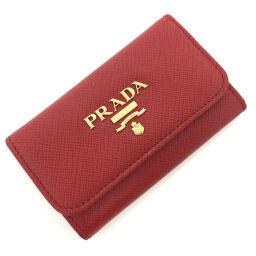 プラダ PRADA サファリアーノ  6連  キーケース 1PG222  サフィアーノレザー レッド レディース K00807809
