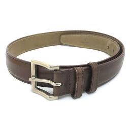 John Lobb Square Buckle Belt Leather Brown Men's K00811479