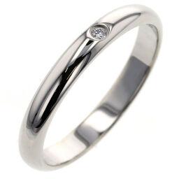 カルティエ CARTIER 1895 ウェディング 1P 約2.6mm リング・指輪 B4057700  プラチナPT950/ダイヤモンド ダイヤモンド0.01ct 10号 シルバー レディース K00813707