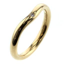 ティファニー TIFFANY&Co. カーブドバンド 1P リング・指輪 エルサペレッティ  K18イエローゴールド/ダイヤモンド ダイヤモンド 5号 ゴールド レディース K00813722