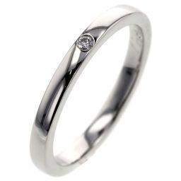 カルティエ CARTIER バレリーナウェディング 1P 約2.1mm リング・指輪 B4077700  プラチナPT950/ダイヤモンド ダイヤモンド0.01ct 9号 シルバー レディース K00813735