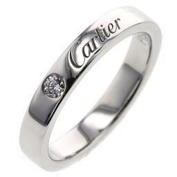 <html>    <body>   カルティエ CARTIER エングレーブド 1P 約3mm リング・指輪 B4051300 プラチナPT950/ダイヤモンド ダイヤモンド0.03ct 7号 シルバー レディース K00813763  </body> </html>