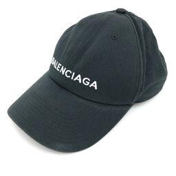 バレンシアガ BALENCIAGA キャップ  LOGO BASEBALL CAP 帽子 8076742970  コットン ブラック レディース K00912917