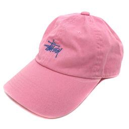 ステューシー STUSSY ロゴ キャップ  帽子  コットン ピンク レディース K00912925
