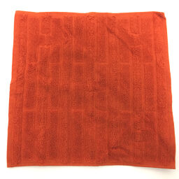 Hermes HERMES H Logo Labyrinth Towel Other 101299M 24 Cotton ORANGE TERRACOTTA Orange Ladies K00915008