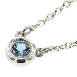 Tiffany TIFFANY & Co. Color by the Yard Approx. 0.06ct Necklace Silver 925 / Aquamarine Aquamarine Silver Ladies K00915066