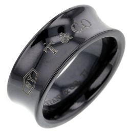 ティファニー TIFFANY&Co. 1837  約7mm リング・指輪  チタン 7号 ブラック レディース K00915957