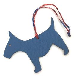 Hermes HERMES Petit Ash PM Bicolor Dog Charm Taurillon Clemence / Vaux Epson Blue Ladies K00915959