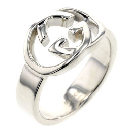 Gucci GUCCI Interlocking Ring / Ring Silver 925 No. 13 Silver Ladies K00915991