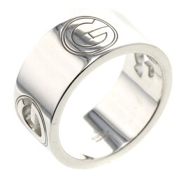 Gucci GUCCI G logo wide about 10mm width ring / ring silver 925 No. 20 silver men's K01006322