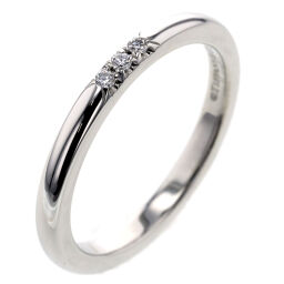 ティファニー TIFFANY&Co. クラシックバンド 3P 幅約2mm リング・指輪  プラチナPT950/ダイヤモンド ダイヤモンド0.01ct 7.5号 シルバー レディース K01007458