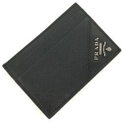 Prada PRADA Metal Money Clip Card Case 2MC047 Saffiano Leather / Metal NERO Black Men's K01020578