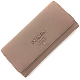 Prada PRADA Saffiano Shine Wallet 1MH132 Saffiano Leather CIPRIA Pink Beige Ladies K01020581