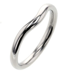 Tiffany TIFFANY & Co. Curved Band Width Approx. 2.1mm Ring / Ring Platinum PT950 No. 10 Silver Ladies K01021672