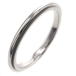 Tiffany TIFFANY & Co. Milgrain Band Width Approximately 2mm Ring / Ring Platinum PT950 12.5 Silver Ladies K01021683