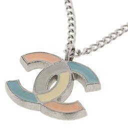 Chanel CHANEL Coco Mark 05P Necklace GP Silver Ladies K01117051