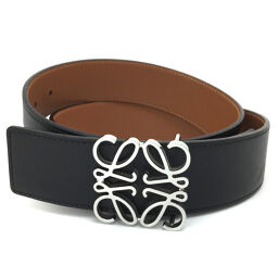 Loewe LOEWE Anagram Reversible Belt Leather / GP Black Men's K01117054