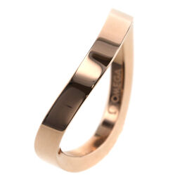 Omega OMEGA Aqua Swing Wave Type Width Approximately 3mm Ring / Ring R42BGA05001XX K18 Pink Gold No. 9 Gold Ladies K01120241