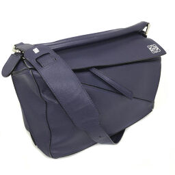 LOEWE LLG PUZZLE Puzzle Shoulder Bag 32230S20 Calf Leather Blue Ladies K01202314