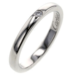 Cartier CARTIER Ballerina Wedding 1PD Width 2.1mm Ring / Ring B4077700 Platinum PT950 / Diamond Diamond No. 5 Silver Ladies K01216386