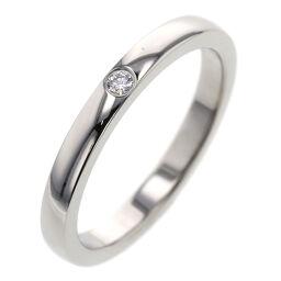 Cartier CARTIER Ballerina Wedding 1PD Width 2.1mm Ring / Ring B4077700 Platinum PT950 / Diamond Diamond No. 6 Silver Ladies K01216395