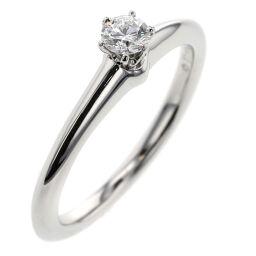 Tiffany TIFFANY & Co. Solitaire Approximately 0.15ct Ring / Ring Platinum PT950 / Diamond Diamond No. 10 Silver Ladies K01222487
